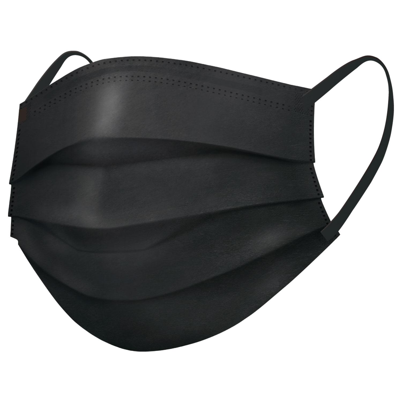スパンレース不織布カラーマスク(ブラック)7枚入