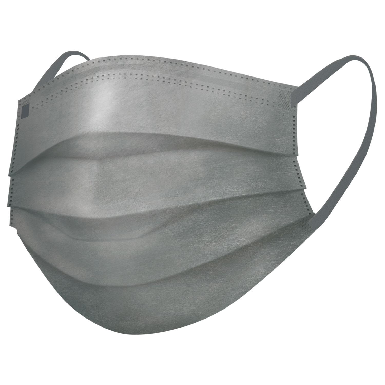 スパンレース不織布カラーマスク(グレー)7枚入