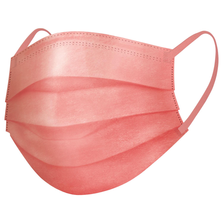 スパンレース不織布カラーマスク(ピンク、ベージュ、パープル)