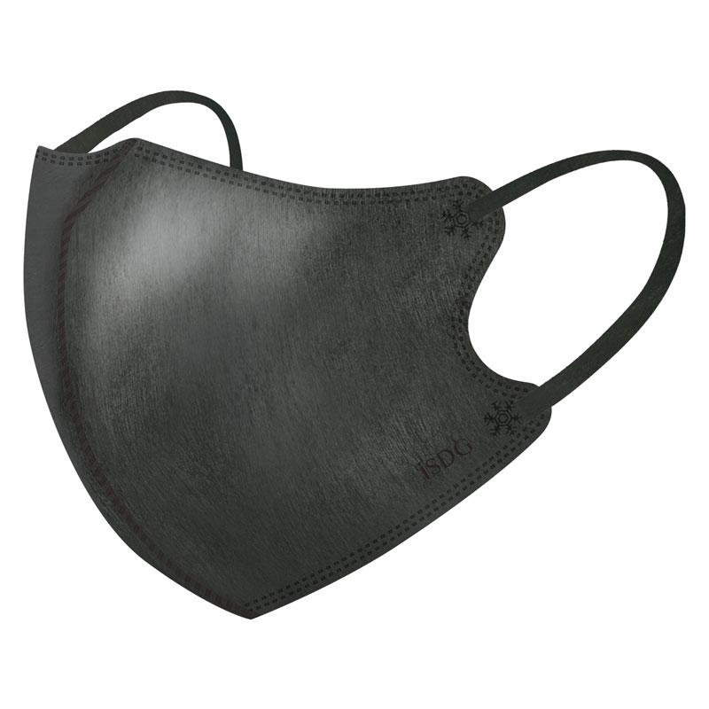 立体型スパンレース不織布カラーマスク(ブラック)30枚入