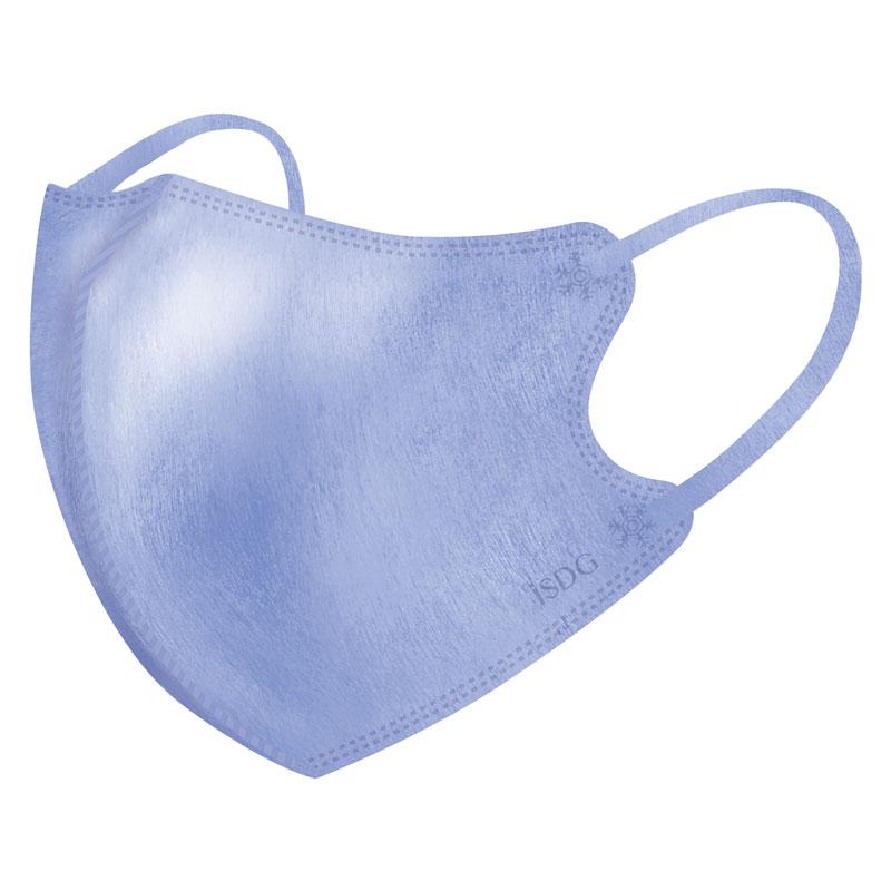 立体型スパンレース不織布カラーマスク(パープル) 7枚入